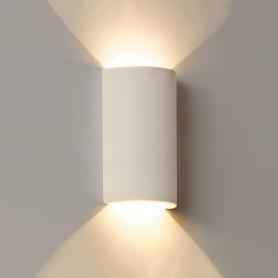 Edit Gallery Round LED Plaster Wall Light - Satin White
