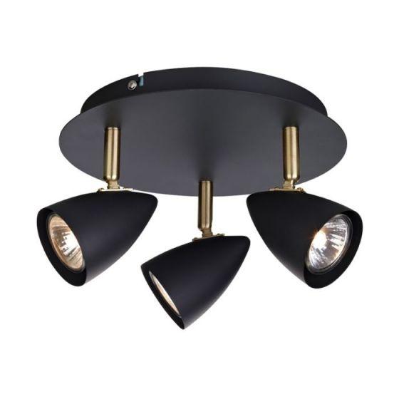 Ciro 3 Light Spotlight Plate - Matt Black