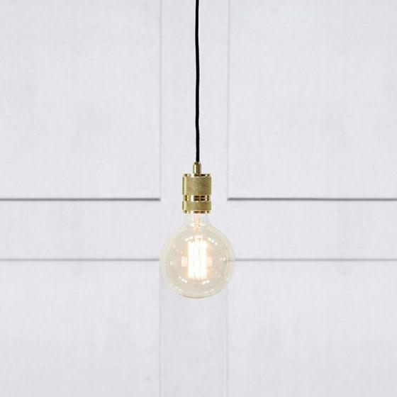 Etui Ceiling Pendant Lamp Holder with Plug - Brass