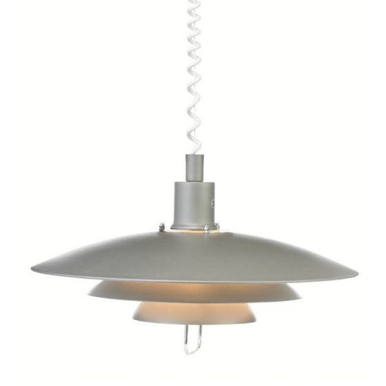 Kirkenes Rise and Fall Ceiling Pendant Light - Grey