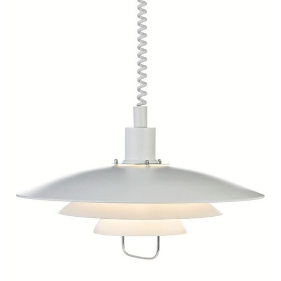 Kirkenes Rise and Fall Ceiling Pendant Light - White