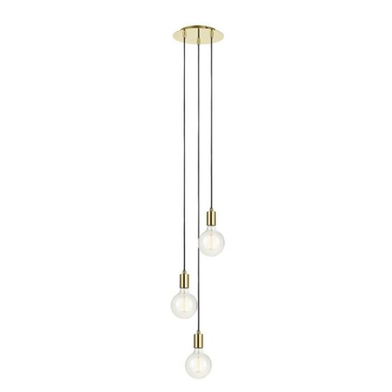 Sky 3 Light Ceiling Pendant - Polished Brass