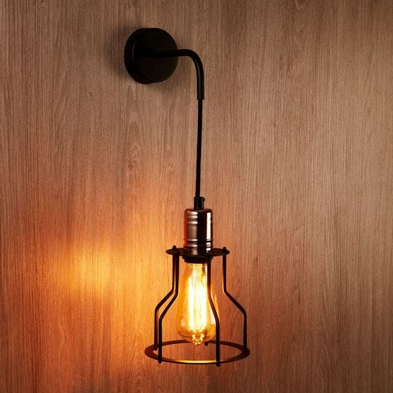 Edit Workshop Wall Light - Black and Copper