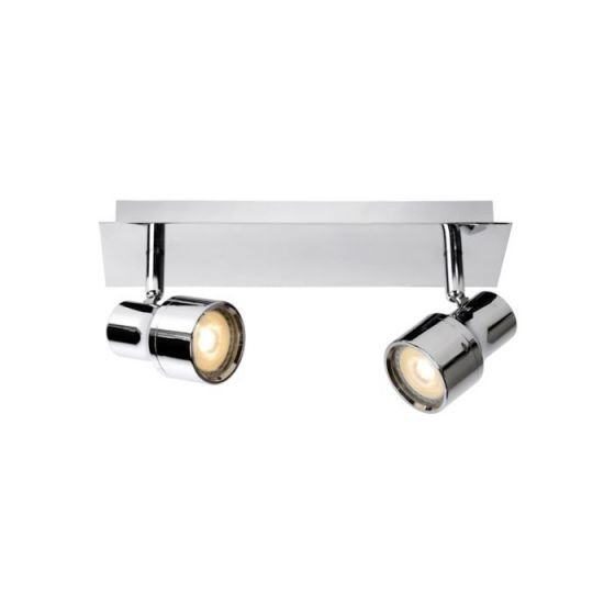 Lucide Sirene 2 Light LED Spotlight Plate - Polished Chrome