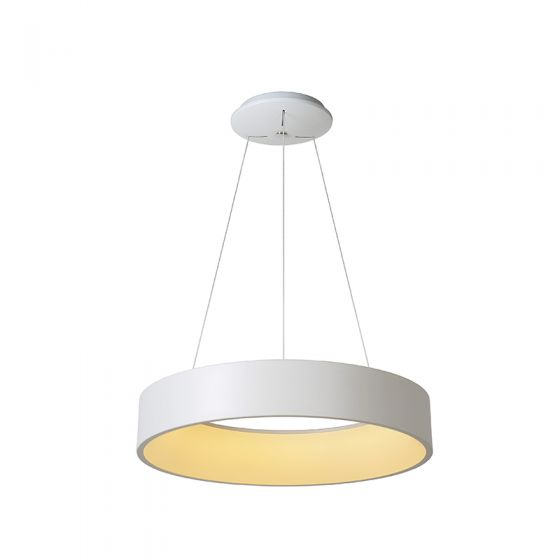 Lucide Talowe Halo LED Ceiling Pendant Light - White