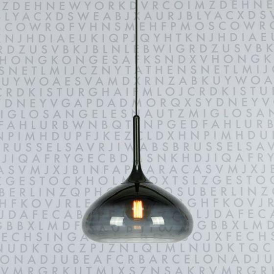 Cooper Glass Ceiling Pendant Light - Black