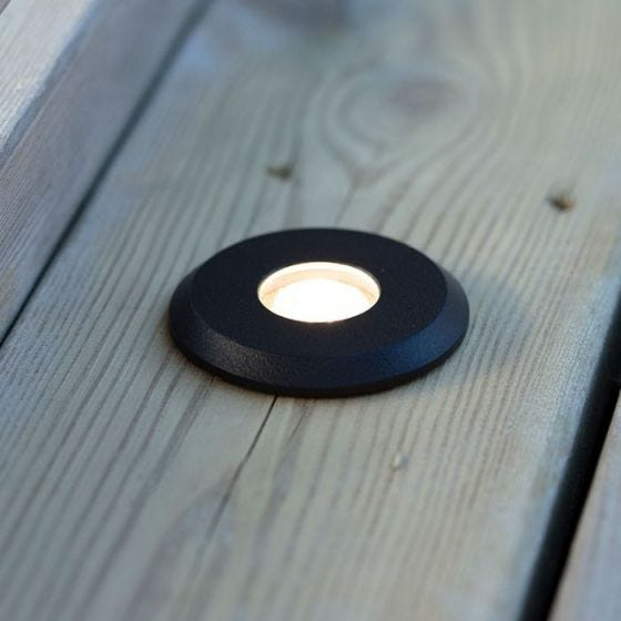 Garden 24V 3W LED Ground Light - Black