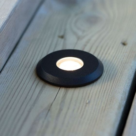 Garden 24V LED Ground Light - Black