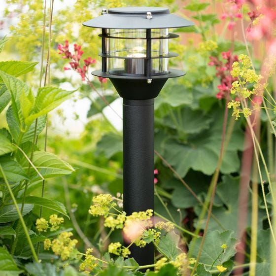 Garden 24V LED Lantern Post Light - Black