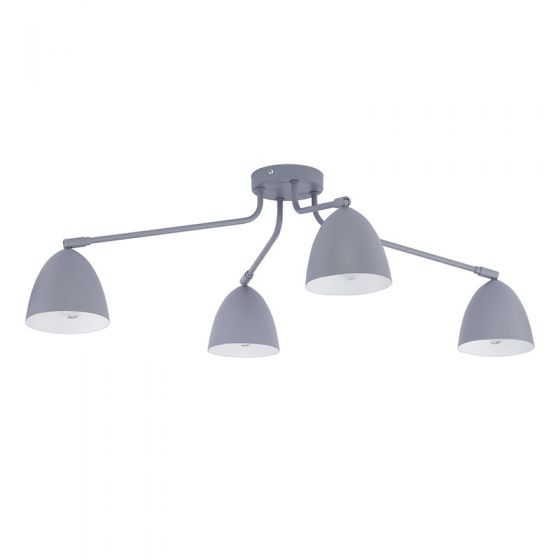 Edit Loretta 4 Arm Semi-Flush Ceiling Light  - Grey
