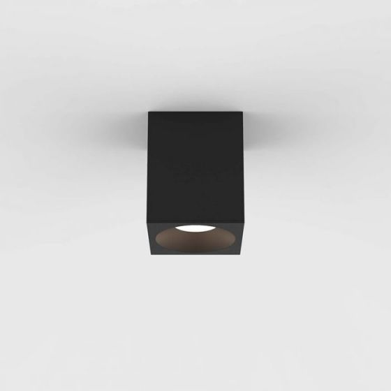 Astro Kos 100 Square LED Ceiling Spotlight - Textured Black