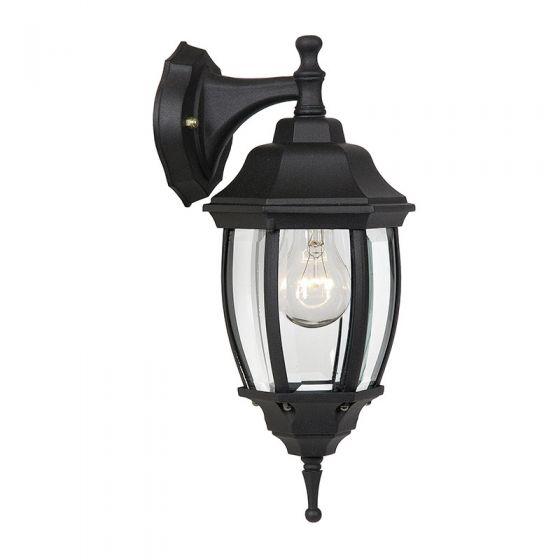 Lucide Tireno Outdoor Hanging Lantern Wall Light - Black