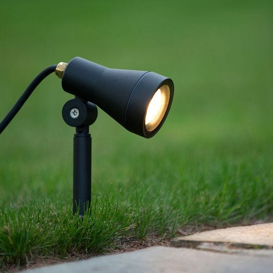 Lucide Spike LED Garden Spotlight - Black