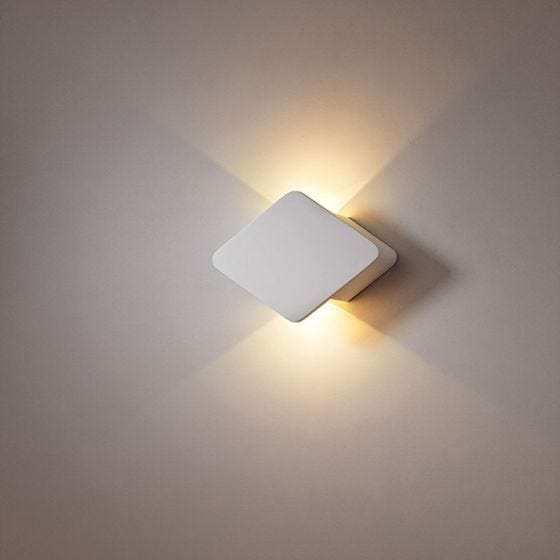 Edit Diamond LED Plaster Up & Down Wall Light