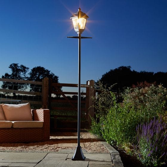 Victoriana 365 Solar LED Lamp Post - Black