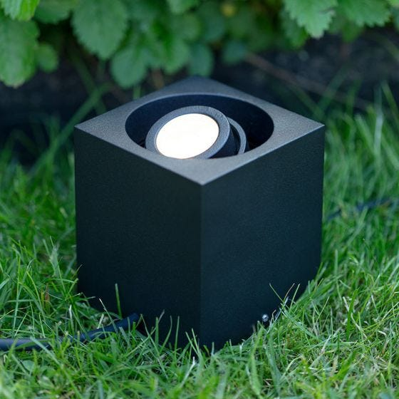 Garden 24V Adjustable LED Ground Light - Black