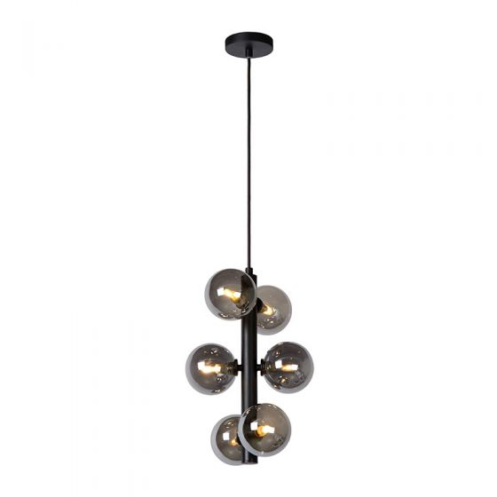Lucide Tycho 6 Light Ceiling Pendant - Black