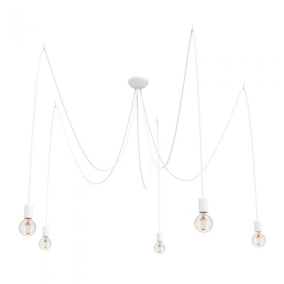 Edit Spider 5 Arm Ceiling Pendant Light - White