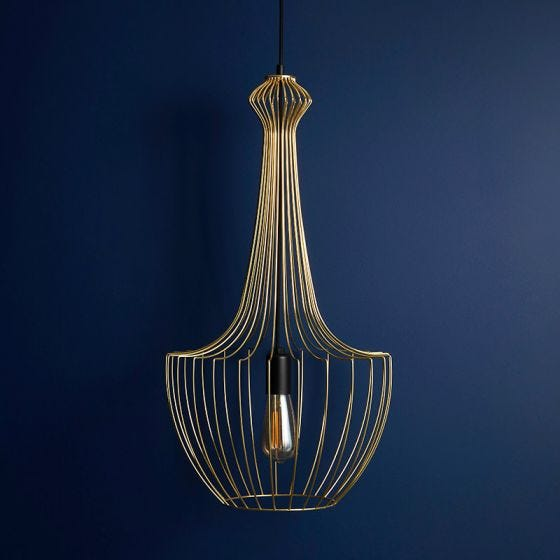 Edit Form Ceiling Pendant Light - Gold