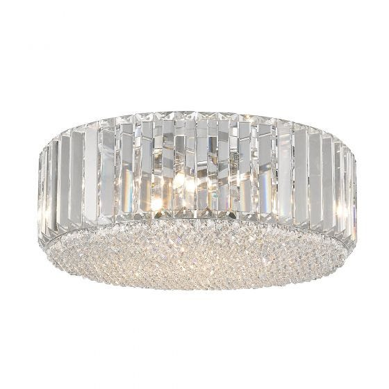 Edit Trinity Flush Ceiling Light - Crystal
