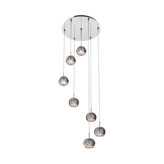 Edit Belgravia 7 Light Glass Cluster Ceiling Pendant - Crystal
