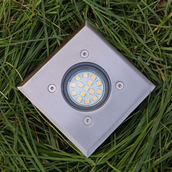 Edit Quad Ground Light - Stainless Steel
