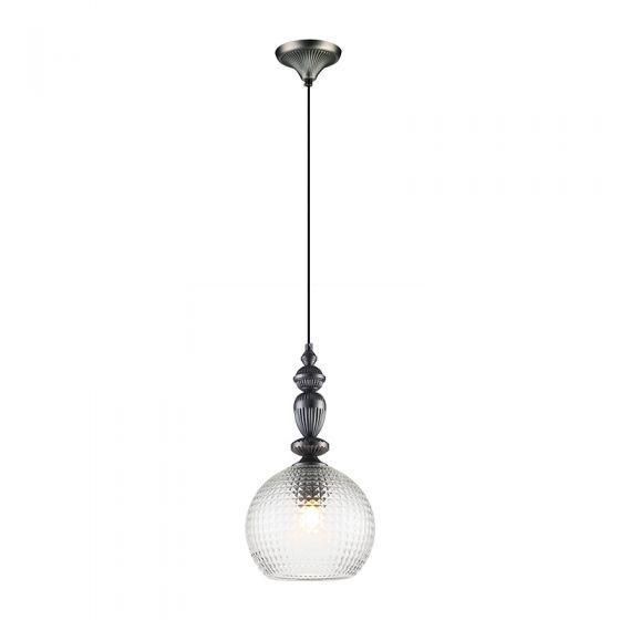 Edit Hirst Glass Ceiling Pendant Light - Pewter