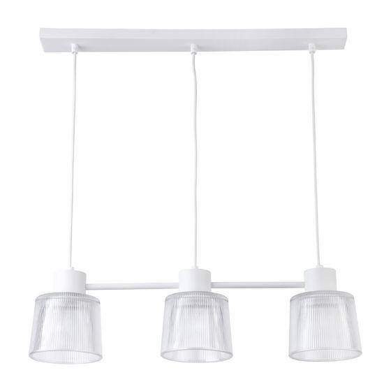 Edit Dusk Glass 3 Light Bar Ceiling Pendant - White