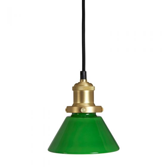 Edit August Glass Ceiling Pendant Light with Plug - Green