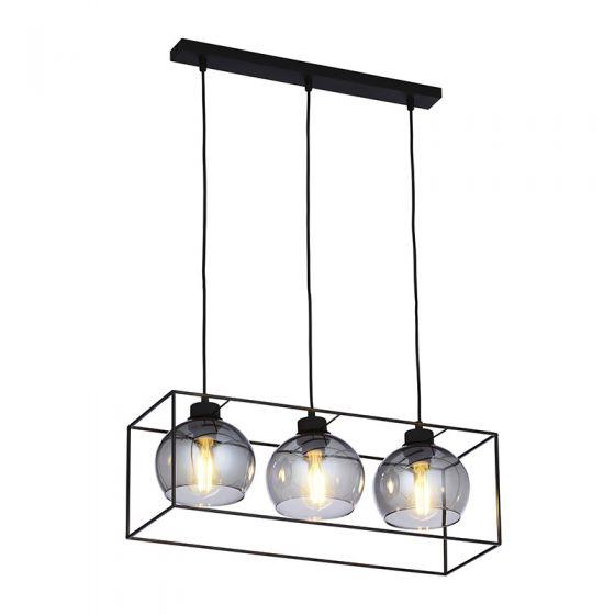 Edit Tumbler 3 Light Bar Ceiling Pendant - Smoked