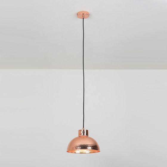 Edit Hammered Ceiling Pendant Light - Copper