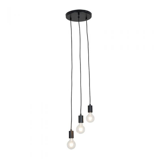 Edit Cable 3 Light Cascade Ceiling Pendant - Black