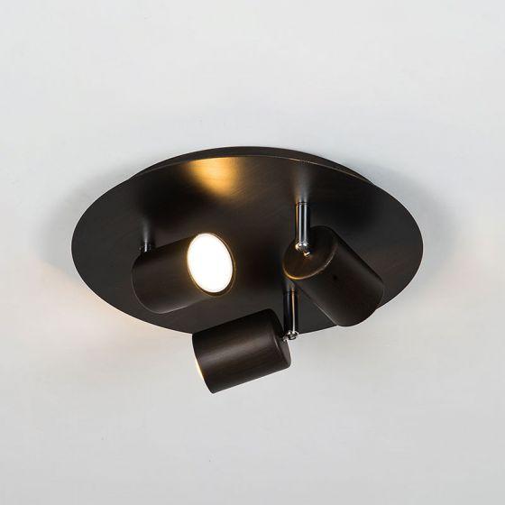 Edit Whitstable 3 Light Spotlight Plate - Bronze