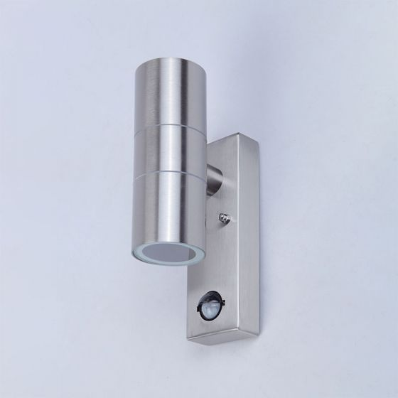 Edit Dune Outdoor Up & Down Wall Light with PIR Sensor - Stainless Steel