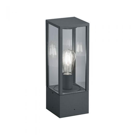 Edit Lantern Outdoor Pedestal Light - Anthracite