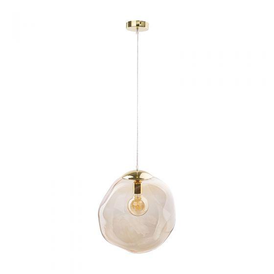 Edit Bubble Glass Ceiling Pendant Light - Amber