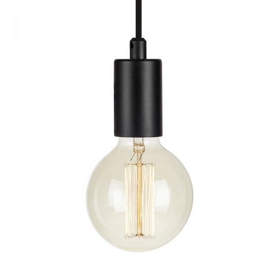 Sky Lamp Holder with Plug - Black