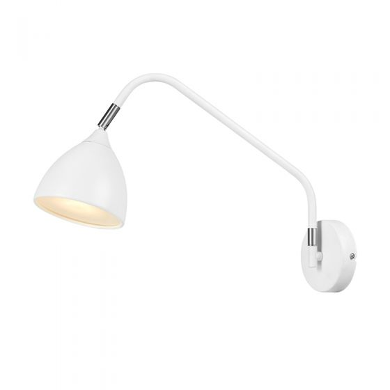 Valencia Wall Light with Plug - White
