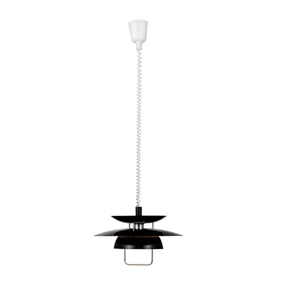 Berga Rise and Fall Ceiling Pendant Light - Black
