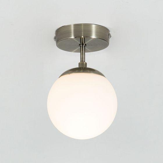 Edit Evie Semi-Flush Glass Ceiling Light - White