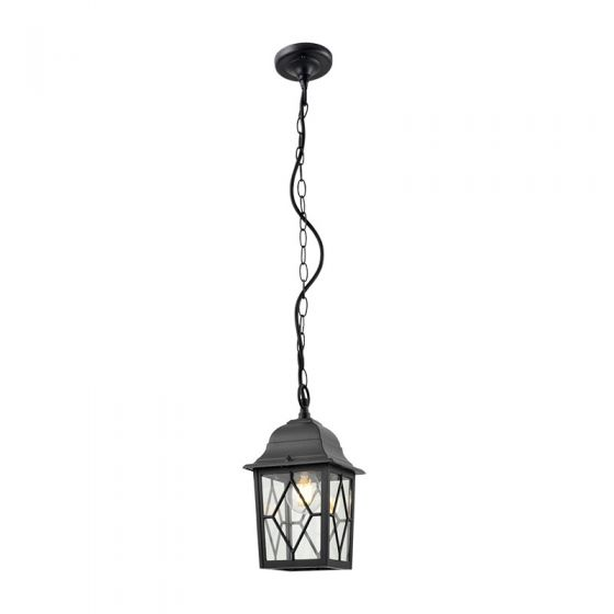 Edit Elgin Outdoor Pendant Porch Lantern - Black