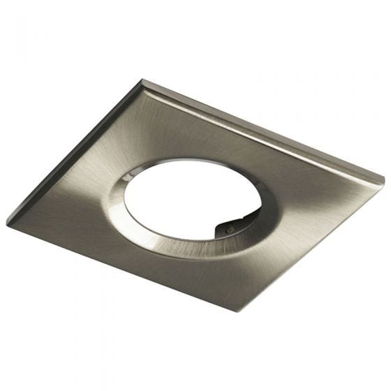 Knightsbridge Square Bezel for Downlights - Brushed Chrome