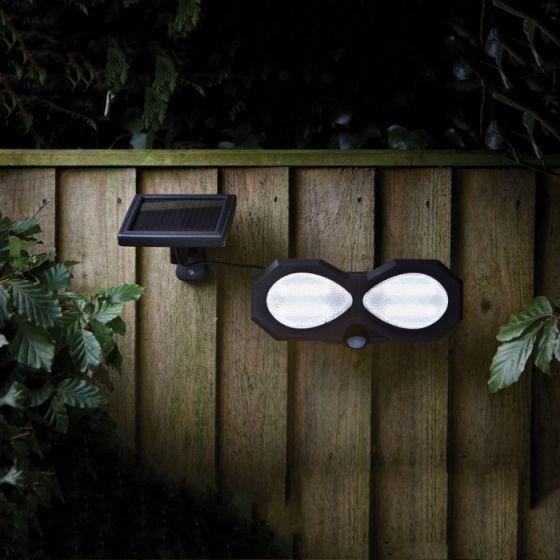 Solar Twin Floodlight with PIR Sensor
