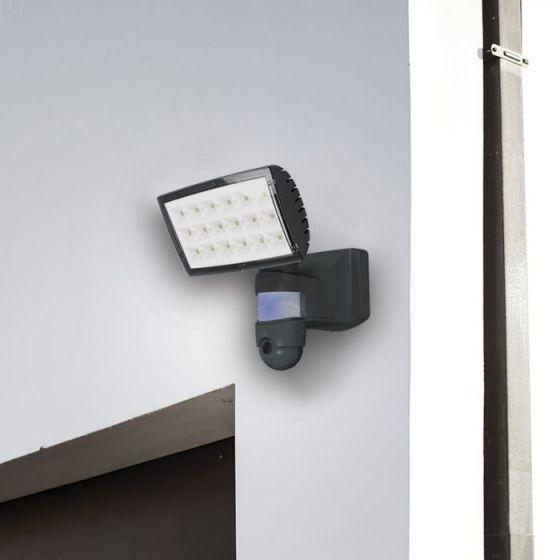 Lutec Peri 25W LED Floodlight With PIR Sensor and HD Wi-Fi Camera