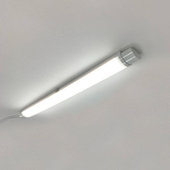 Tough 18W Cool White LED Weatherproof Batten - 2ft Single