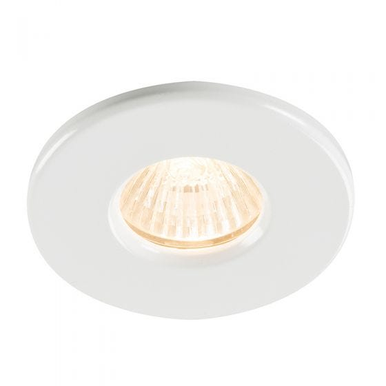 Fixed Recessed Shower Downlight - White