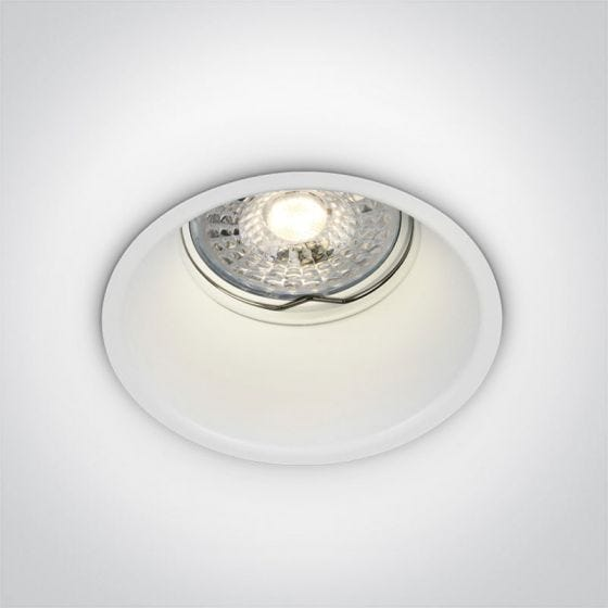Cove Deep Recessed Fixed Downlight - White