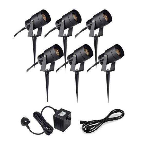 Garden 24V - 3W LED Spotlight Kit - 6 Lights