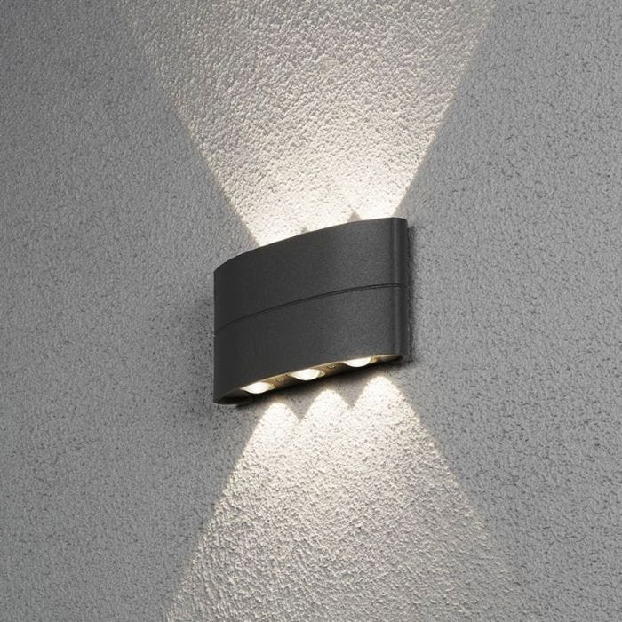 Stream Outdoor Led Up Down Wall Light, Outdoor Wall Downlights Led