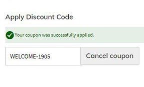 welcome discount explained- successesful welcome code